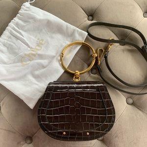 CHLOE Crocodile Embossed Nile Bracelet Bag NWOT